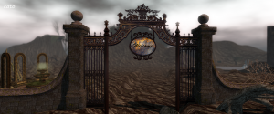 Gate with welcome sign